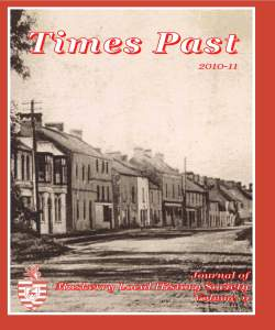 Times Past 2011-12 Cover
